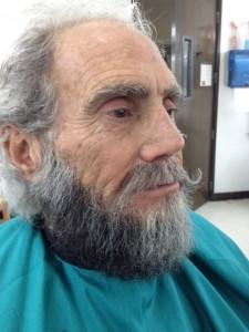 Man with Hand Laid Beard