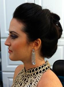 Woman with Diamond Earings