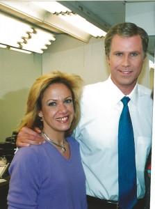 Deborah Paulmann and Will Ferrell as President George Bush SNL 1985