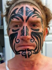 Hand Drawn Tattoo Face