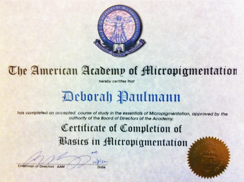 Certification Ccbm Deborah T Paulmann